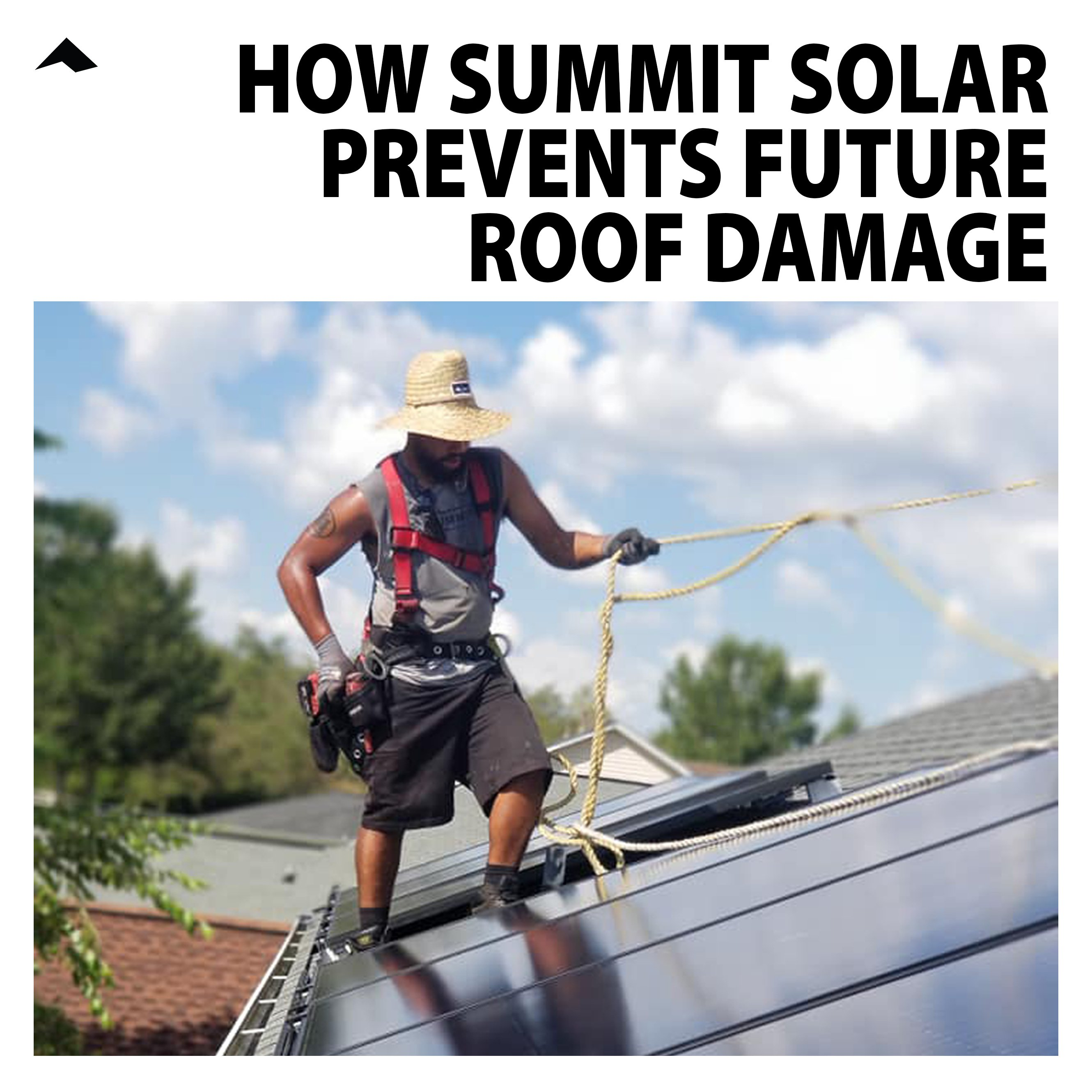 How Summit Solar Prevents Future Roof Damage & Water Leaks
